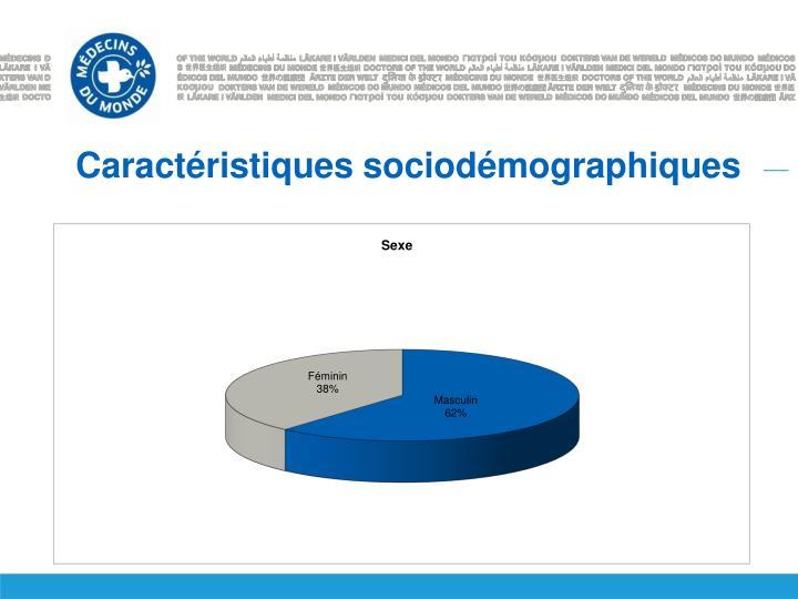 Caractéristiques sociodémographiques