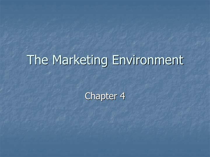 the marketing environment n.