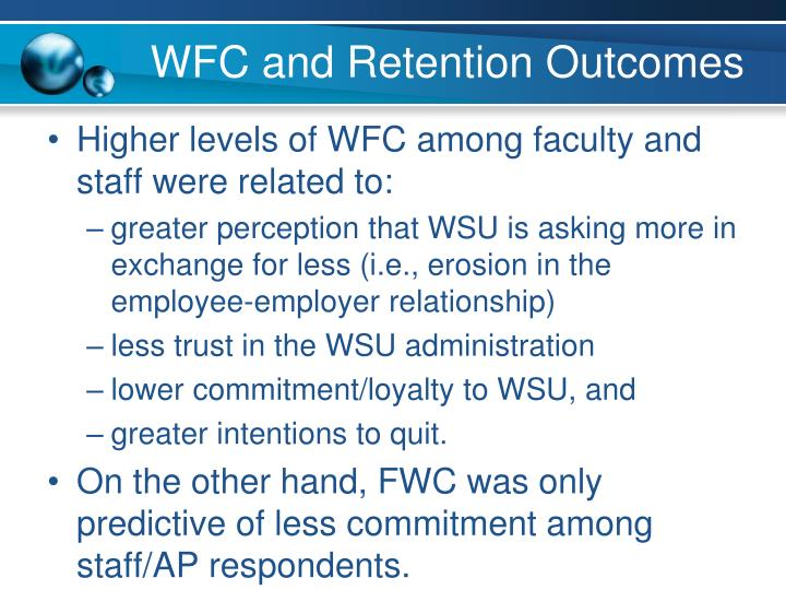 WFC and Retention Outcomes