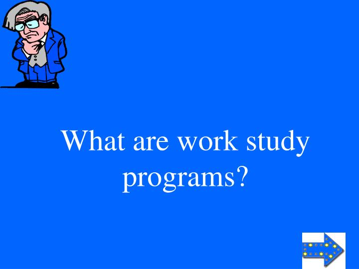 What are work study programs?