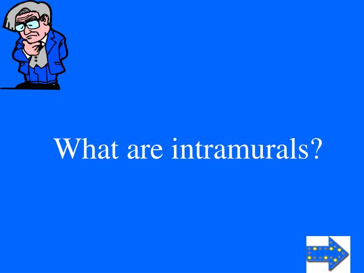 What are intramurals?