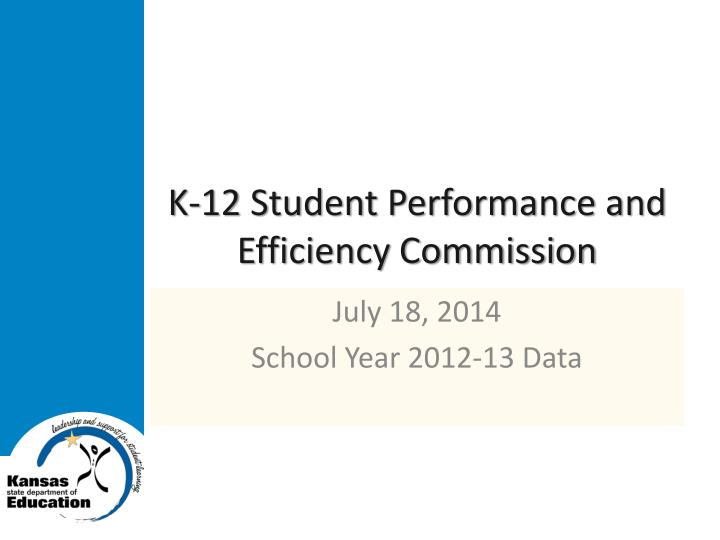 k 12 student performance and efficiency commission n.