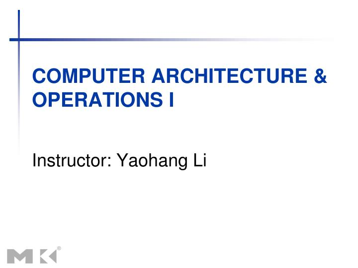 computer architecture operations i n.