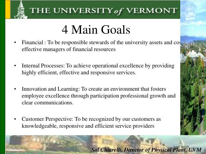 4 Main Goals