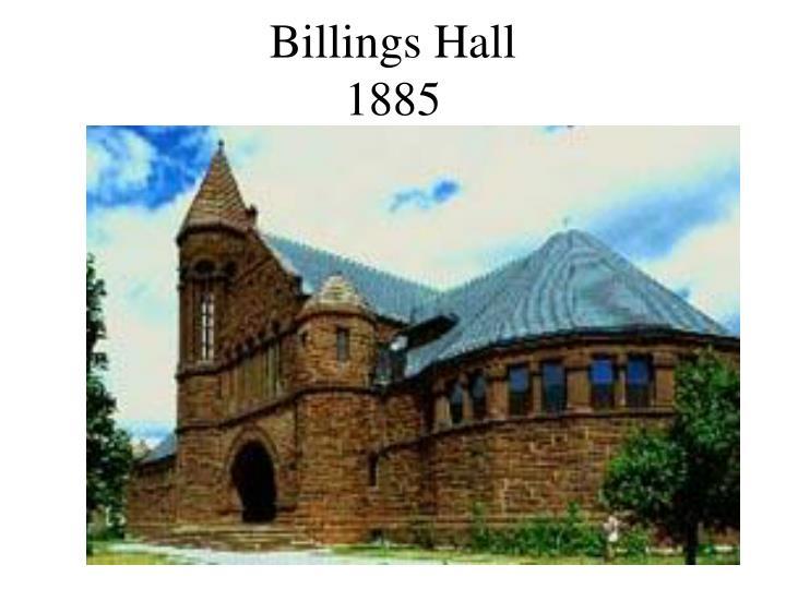 Billings Hall