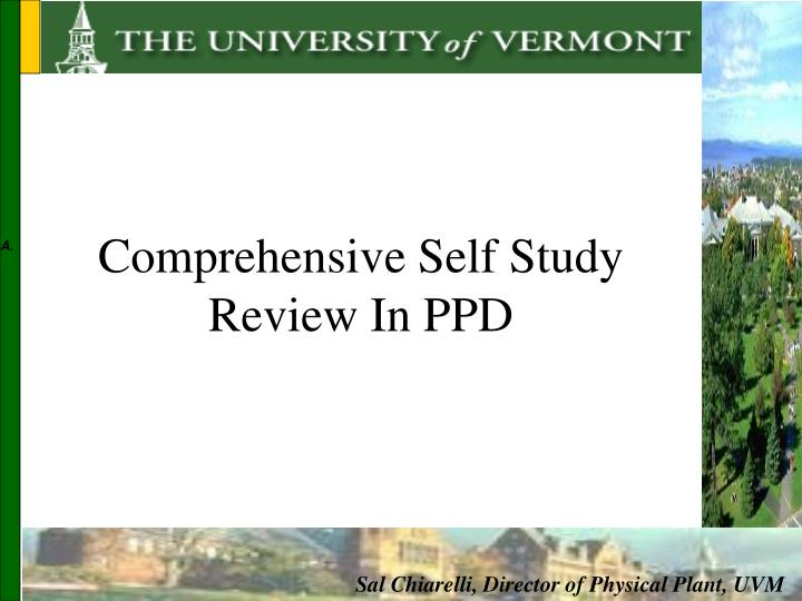 Comprehensive Self Study Review In PPD