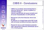 cibis ii conclusions