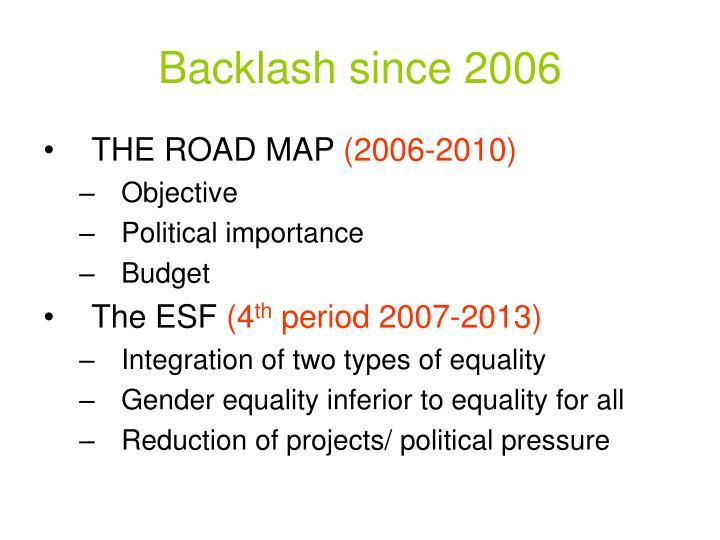 Backlash since 2006