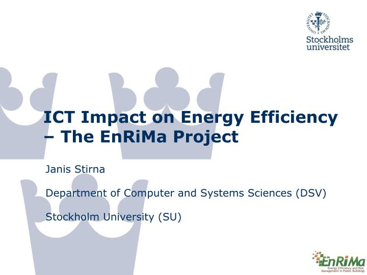 ict impact on energy efficiency the enrima project n.