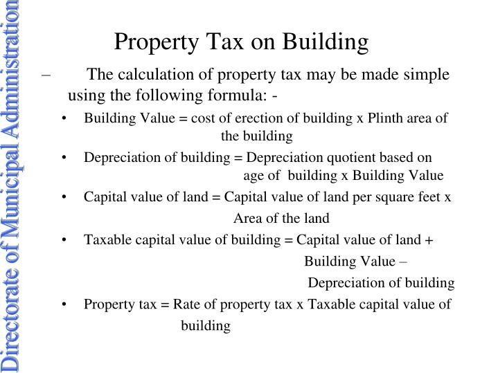 Property Tax on Building
