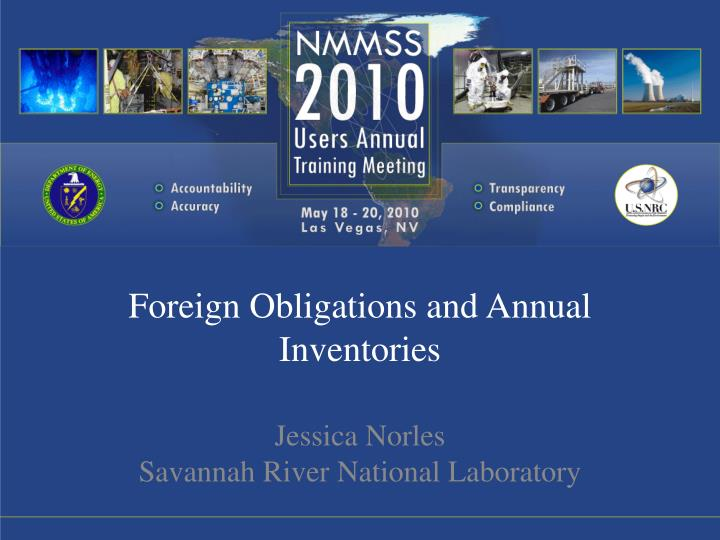 foreign obligations and annual inventories n.
