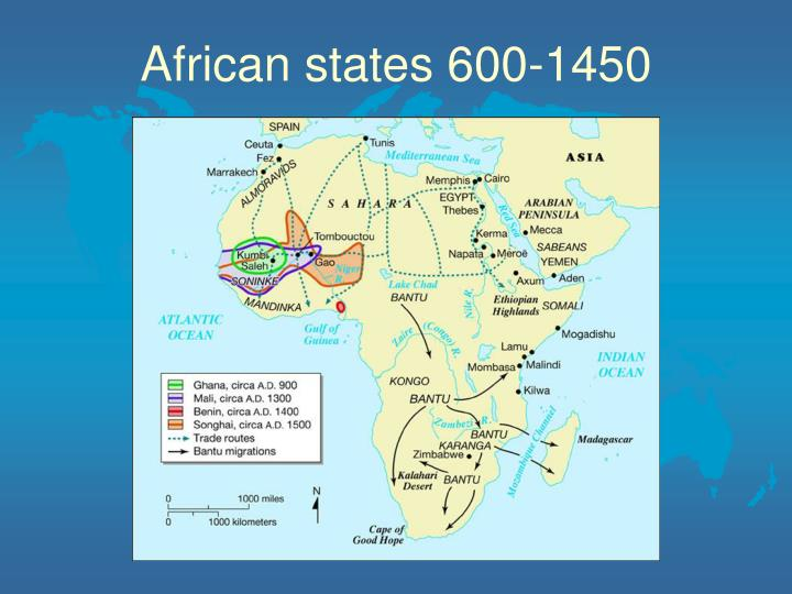 African states 600 1450