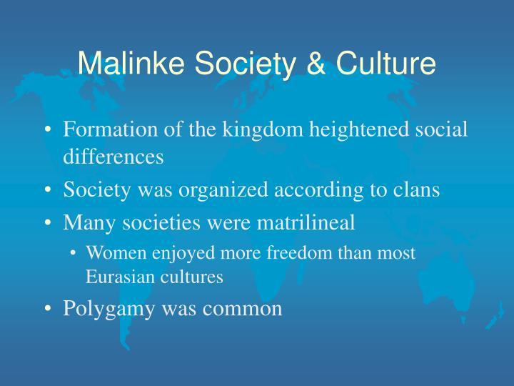 Malinke Society & Culture