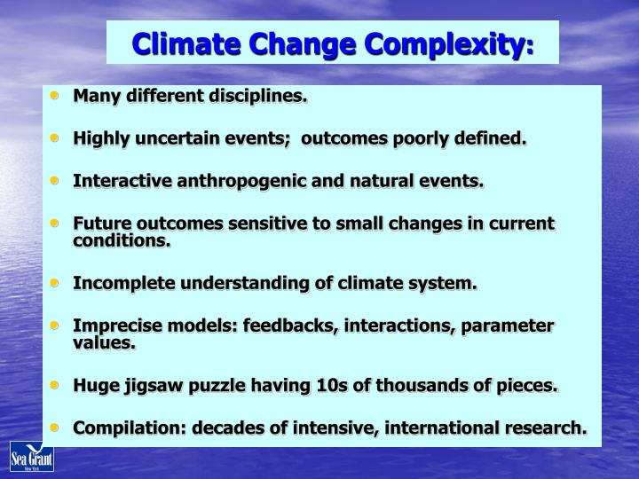 Climate Change Complexity