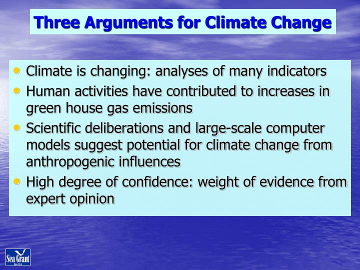 Three Arguments for Climate Change