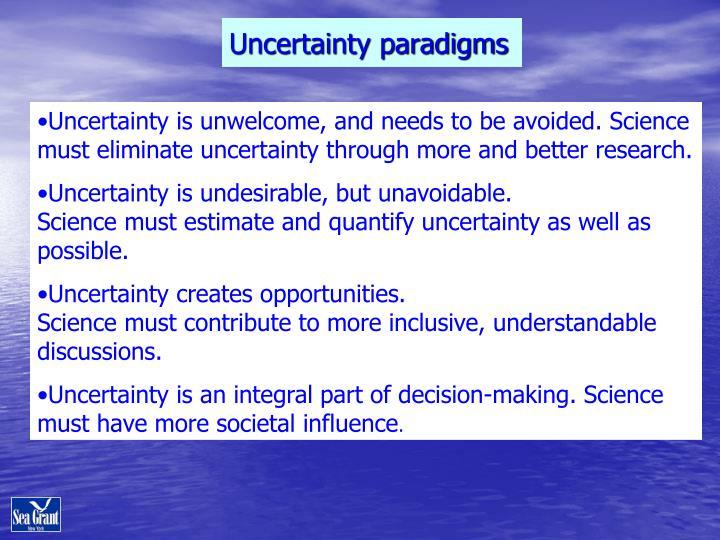 Uncertainty paradigms