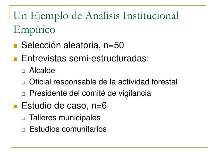 Un Ejemplo de Analisis Institucional Empírico