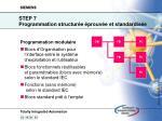 step 7 programmation structur e prouv e et standardis e