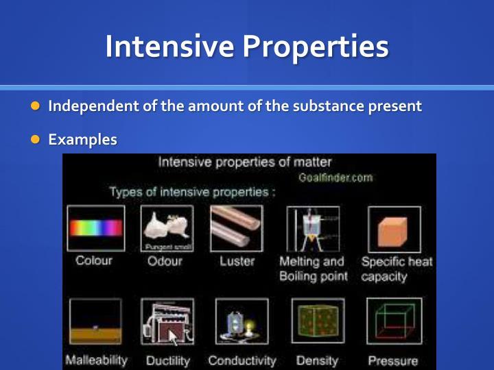 Intensive Properties