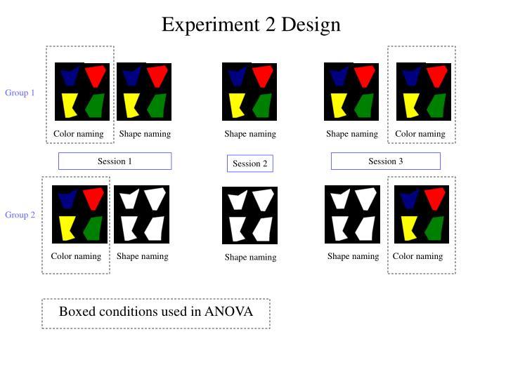 Experiment 2 Design