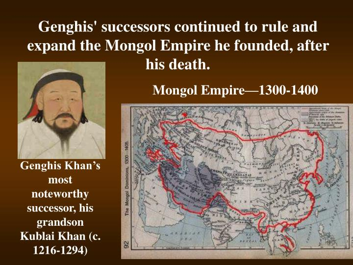 genghis khan and the mongol empire essay Home essay samples the collapse of the mongol under the rule of genghis khan, the empire's another factor attributed to the collapse of the mongol empire is.