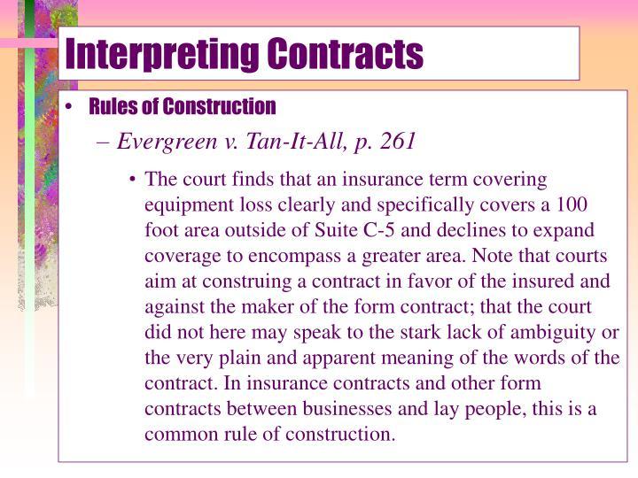 Interpreting Contracts