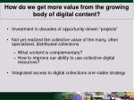 how do we get more value from the growing body of digital content