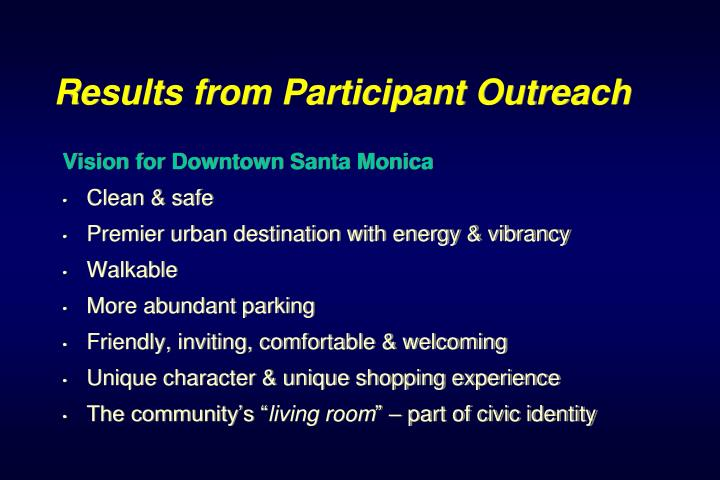Results from Participant Outreach
