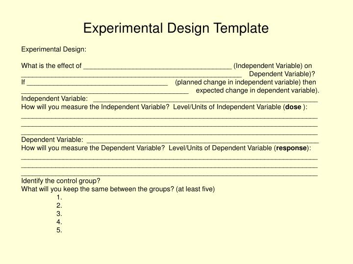 Experimental Design Template