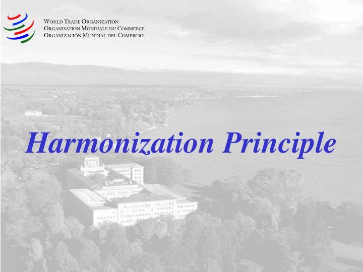 Harmonization Principle