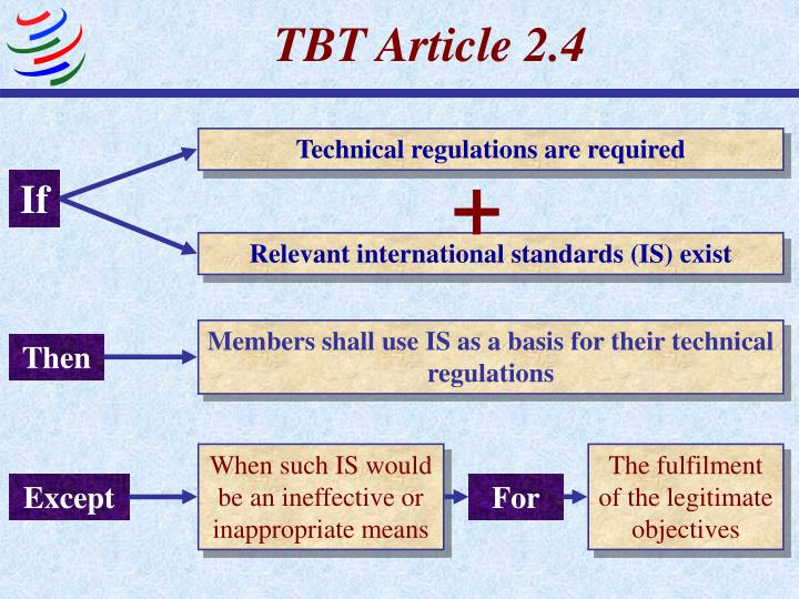 TBT Article 2.4