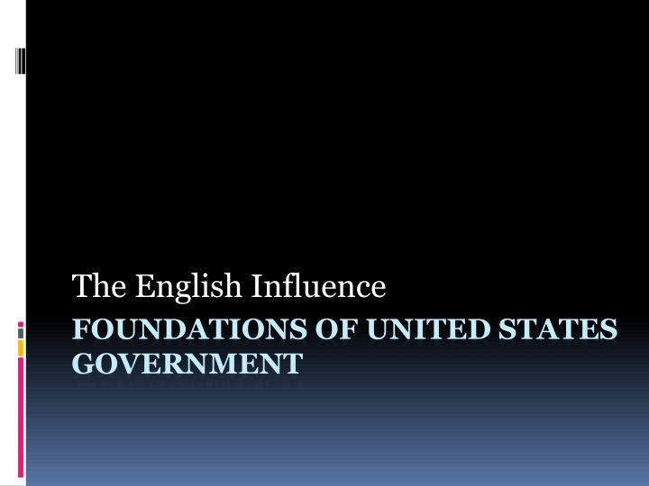the english influence n.