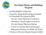 eco mart homes and buildings program