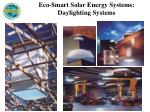 eco mart solar energy systems daylighting systems