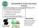 epa energy star 5 star home package