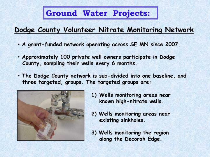 Ground  Water  Projects: