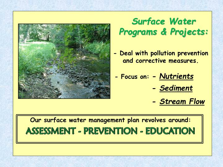Surface Water Programs & Projects: