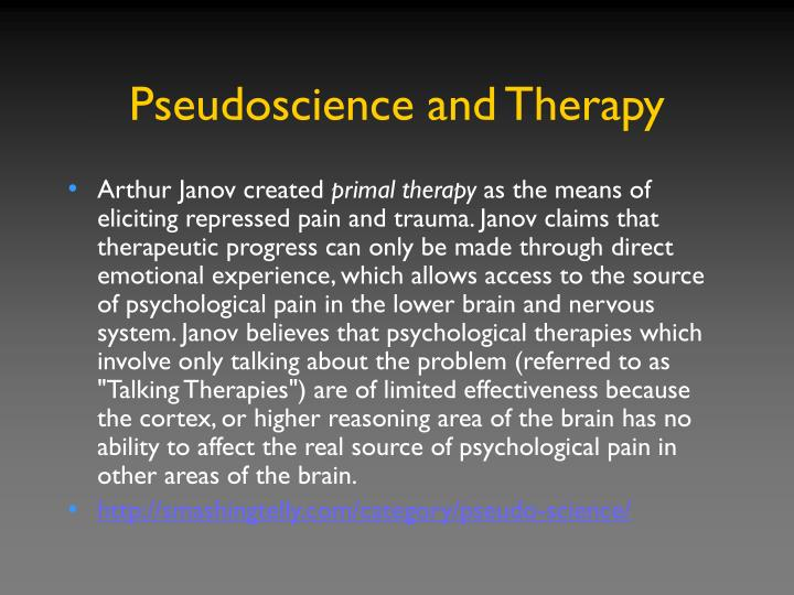 Pseudoscience and Therapy