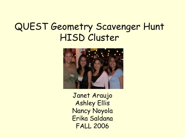 quest geometry scavenger hunt hisd cluster n.