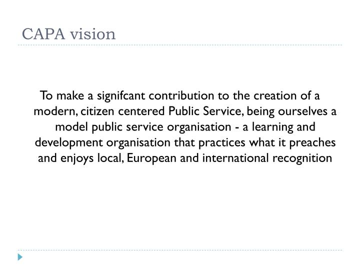 CAPA vision