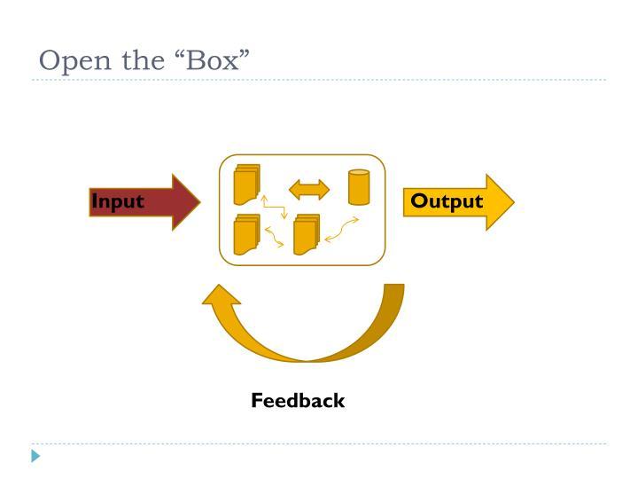 """Open the """"Box"""""""