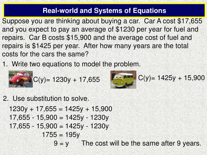 how to solve linear equations using substitution