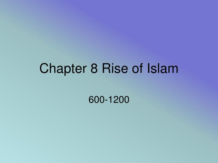 chapter 8 rise of islam n.