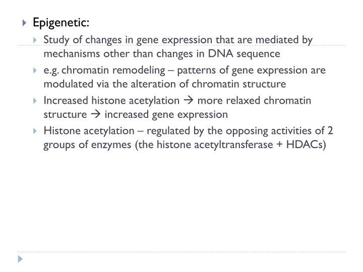 Epigenetic: