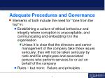 adequate procedures and governance
