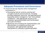 adequate procedures and governance1