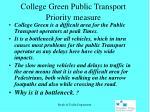 college green public transport priority measure1