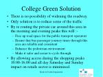 college green solution