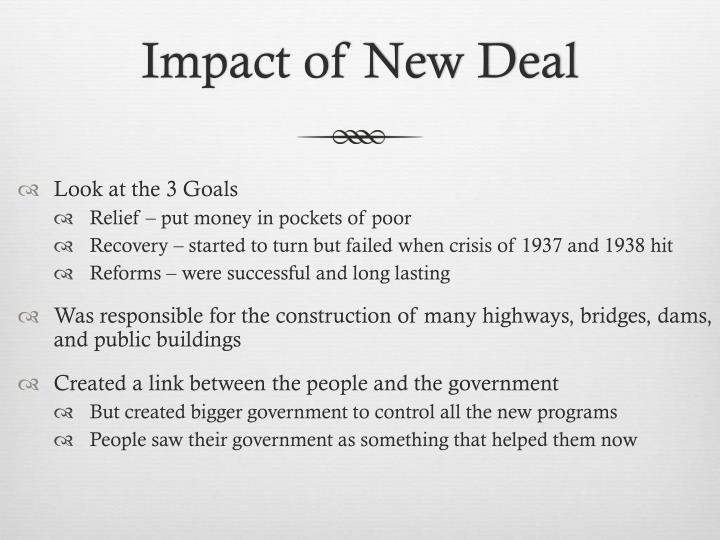 Impact of New Deal