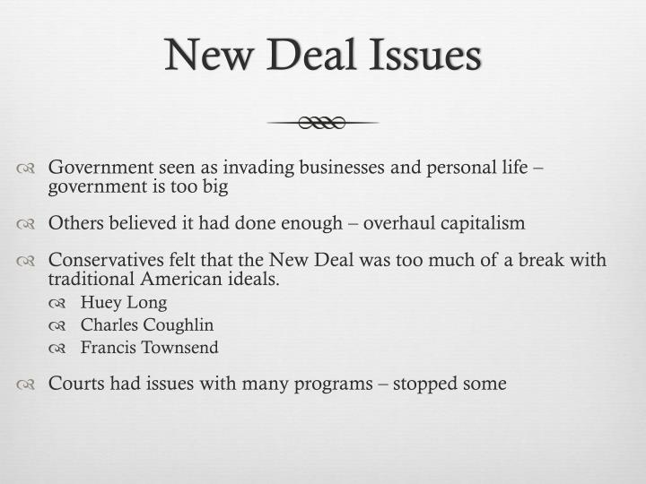 New Deal Issues